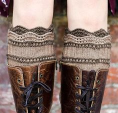 Brooklyn Boot Liners by Pam Powers Knit Kit