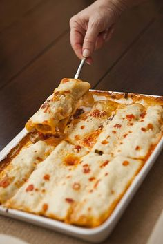 Chicken cannelloni.