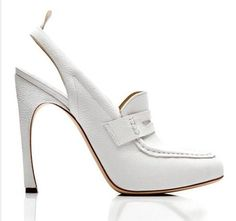 I just love these white loafer heels by designer thom brown. Makes it so sexy.