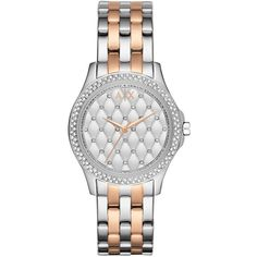 This Armani Exchange watch is the perfect example of glamorous horology. A striking index and numeral-free dial offers a diamond-shaped motif, interspersed by…