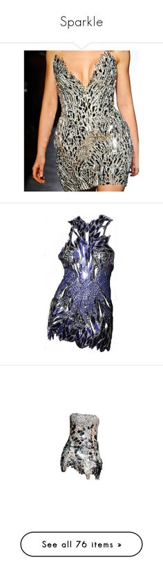 """""""Sparkle"""" by nataliesharin ❤ liked on Polyvore featuring dresses, vestidos, short dresses, tour, couture dresses, zuhair murad dresses, mini dress, zuhair murad, edited and paco rabanne dress"""