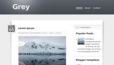 Grey Blogger Template