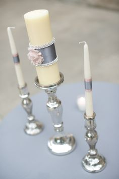 Custom Unity Candle Photo Credit: Jamie K Photography Wedding Ceremony Ideas, Unity Ceremony, Our Wedding, Candle Art, Candle Sticks, Coral Color Schemes, Wedding Planer, Photo Candles, Wedding Unity Candles