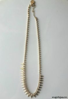 Marlyn Schiff Grover Crystal Spike Necklace - A great piece to add to my wardrobe accessories