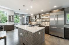 Chef's kitchen located in a mid-century modern Bonnie Brae home | 3040 E Exposition Ave, Denver |