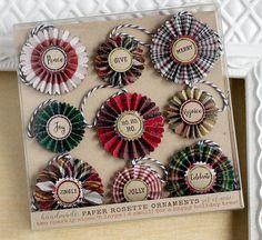 Paper Rosette Ornaments  Christmas Plaid Christmas Decor  by SunshineandRavioli2   Etsy