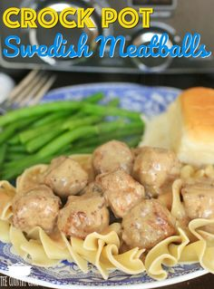 Crockpot Swedish Meatballs in sauce recipe from The Country Cook