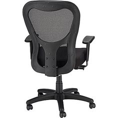 quill acadia ergonomic mesh mid back office chair with arms black rh pinterest com