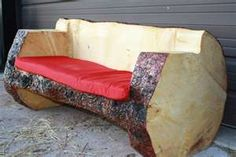 Cool outside bench!