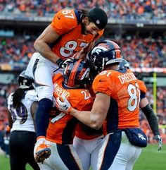 """Denver Broncos  #Denver #broncos #football    1-19-14  What a great game, a  well deserved win and so nice to see Brady get """"spanked""""!  To the SuperBowl we go!  :-)"""