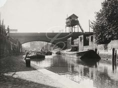 size: Photographic Print: Limehouse Cut Looking South from Commercial Road, Stepney, London, : London Now, East End London, Old London, Victorian London, Vintage London, London History, British History, London Photos, London Pictures