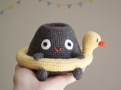 Vlad the volcano and the duck lifebuoy  - Amigurumi - Crochet - Pattern by Petits Pixels