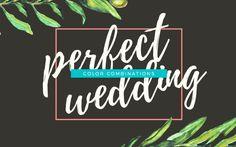 配色を選ぶときにもっとも大変なのは、新郎と新婦のように、調和よくバランスを保つことです。今回は、実際にデザインされた結婚式の招待状をモチーフに、美しい配色の組合せ25個をまとめてご紹介します。