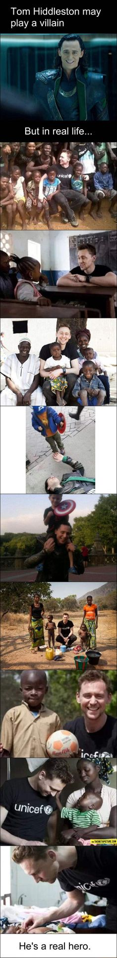 You're a good man, Tom Hiddleston…
