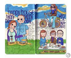 Anna Denise's Moleskin journals.