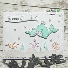 Today is day 1 of @craftindesertdivas July release  I want to share my first card using the Ocean Border Dies and Ocean Friends Stamps  I love that cute Ocean Border Dies Visit the release event page for a chance to win  #mitkammer #cardmaking #copiccoloring #craftindesertdivas #julyrelease #cdddesignteam #cddrelease #oceanborderdies #oceanfriends #cardmakinghobby #craftygirl #handmadewithlove #happytime