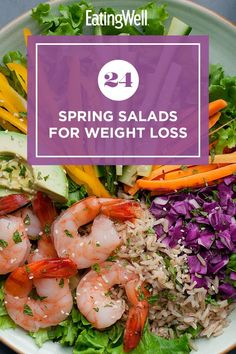Enjoy a fresh and flavorful salad that's perfect for spring. These main and side dish salads are packed with seasonal produce and low in calories. Each salad is also high in fiber, which is an important nutrient that can help you feel full for longer periods of time. #salads #saladrecipes #healthysalads #saladideas #healthyrecipes Healthy Salads, Healthy Eating, Spring Salad, In Season Produce, Bean Salad, Lettuce, Pasta Salad, Salad Recipes, Side Dishes
