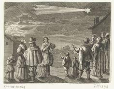 De verschijning van een komeet in november 1618. Rijksmuseum, Public Domain marked.
