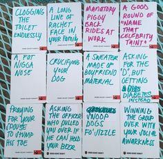 DIY CARDS OF HUMANITY HILARIOUS IDEAS FOR BLANK CARDS Adult Game Night Party, Game Night Parties, Cards Of Humanity, Cards Against Humanity, Party Fun, Party Games, Adult Games, Hilarious, Funny