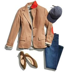 I am in love with this entire outfit! The blazer is preppy with a geeky stylish twist.   Dark denim and flats make this outfit comfortable for casual Friday or happy hour!   Try stichfix today for only 20 dollars  Let your personal professional stylist help release your inner fashoinsta with flattering styles for your unique body, lifestyle, and fashion taste!