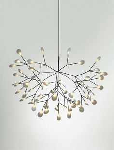 Luminária Heracleum inspirada nas plantas.