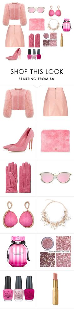 """""""#PINK"""" by olivemontgomerie on Polyvore featuring moda, GANT, Victoria's Secret, OPI e Too Faced Cosmetics"""