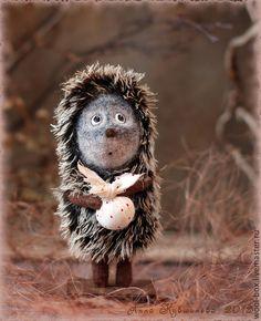 Купить Ежик в тумане - коричневый, туман, ежик, ежик в тумане, ежик игрушка, ежик фигурка