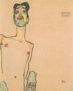 Mime van Osen 1910 Egon Schiele