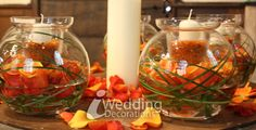 Fall Wedding Centerpieces | orange is often associated with autumn or fall but it also works ...