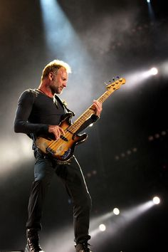 Sting Photos - Sting of The Police performs on the Main Stage during Day 3 of the Isle Of Wight Festival 2008 on June 2008 in Newport (Isle of Wight), England. - Isle Of Wight Festival 2008 - Day 3 Art Music, Music Artists, Sting Musician, The Police Band, Rock And Roll Fantasy, Musician Photography, Isle Of Wight Festival, We Will Rock You, Musica