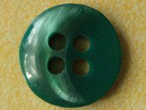 10 kleine Knöpfe dunkelgrün 13mm (1378) Knopf grün