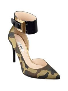 Hot & Beautiful With An Edgy Sophistication!..GUESS Women's Adal Pointy-Toe Green Multi Pumps