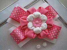 Kanzashi flor arco chicas pelo clip-comprar por MARIASFLOWERPOWER