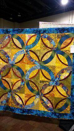Quilt made after a class  by Sylvia Einstein at Asilomar.  Original  design.