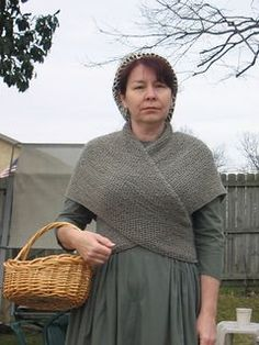 Another name for this style shawl is a SONTAG. Ravelry freebie.