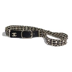 Explore the newest Leather Belts on the CHANEL website, featuring the latest styles and looks, made with the quality craftsmanship of the House of Chanel. High Jewelry, Cute Jewelry, Rock And Roll, White Belt, Black Belt, Luxury Belts, Chanel Brand, Chanel Store, Older Women Fashion