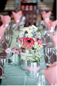 Elegant wedding centerpieces: Speak with pros near your wedding is situated to learn what blooms are available to you. Wedding Table Centerpieces, Flower Centerpieces, Flower Decorations, Flower Arrangements, Wedding Decorations, Table Decorations, Centerpiece Ideas, Centrepieces, Protea Wedding