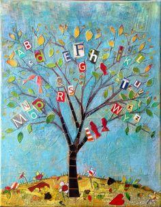 arbre de l'alphabet bricolage enfant