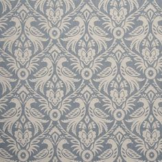 Clarke And Clarke Harewood Chambray Fabric F0737/02.CAC.0 Fabric Birds, Floral Fabric, Blue Fabric, Drapery Fabric, Linen Fabric, Cotton Fabric, Fabric Decor, Curtains, Fabric Roman Shades