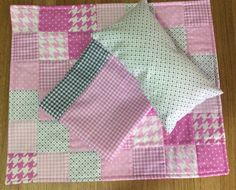 Doll quilt , pillow and sheet set by TheAngoraBunny on Etsy https://www.etsy.com/au/listing/537370283/doll-quilt-pillow-and-sheet-set