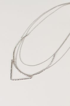 Silver Minimalist Necklace, Nectar Clothing