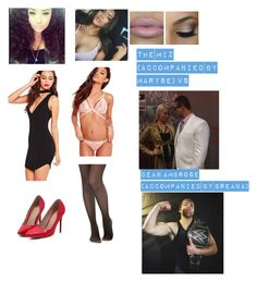 """""""The Miz (Accompanied By Maryse) VS Dean Ambrose (Accompanied By Breana) on Smackdown 6/30/16"""" by wifeyambrosedixon on Polyvore featuring Missguided, Leg Avenue and Stila"""