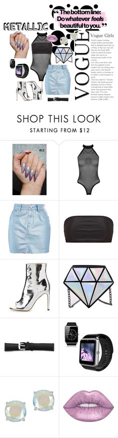 """""""Untitled #17"""" by echolsitalie ❤ liked on Polyvore featuring Boohoo, Topshop, Mix & Match, FRH, Kate Spade and Lime Crime"""
