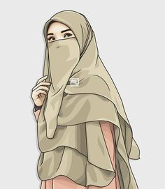 hijab vector in 2019 anime muslimah, hijab drawi Hijab Drawing, Muslim Hijab, Hijab Niqab, Islamic Cartoon, Hijab Cartoon, Islamic Girl, Girl Hijab, Muslim Girls, Cute Cartoon Wallpapers