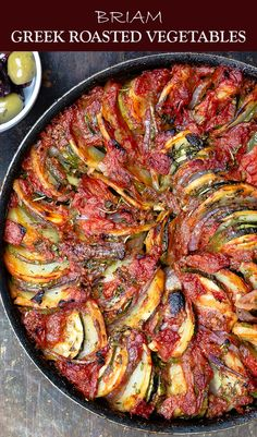 If you havent tried these Greek Roasted Vegetables you are in for a treat DELICIOUS healthy and loads of Greek flavors You probably already have all the ingredients Easy. Side Dish Recipes, Veggie Recipes, Vegetarian Recipes, Cooking Recipes, Healthy Recipes, Dinner Recipes, Easy Recipes, Greek Food Recipes, Roasted Vegetable Recipes