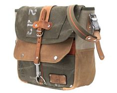 Canvas Leather, Leather Bag, Steam Girl, Satchel, Crossbody Bag, Military Surplus, Canvas Messenger Bag, Recycled Leather, Lining Fabric