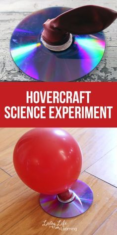 Hovercraft Science Experiment You need to try this with your kids, it will be a hit. My kiddos are always asking for hands on science activities, even if it's one we have done over and over like this Hovercraft Science experiment project. Science Projects For Kids, Easy Science Experiments, Science Activities For Kids, Science Classroom, Teaching Science, Kindergarten Science Experiments, Science With Kids, Stem Projects, Science Education