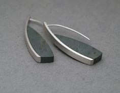 JL340  argillite curve earrings  $270