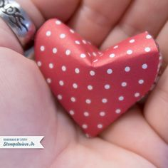 Origami - Herz - Valentinstag - 3D - Heart - Video - Anleitung ❤ Stempelwiese