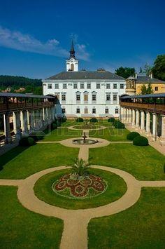 Lysice baroque castle, south Moravia, Czech Republic